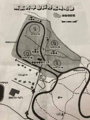 蔵王坊平国設野営場 場内マップ