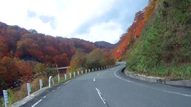 国道398号線 栗駒山の紅葉